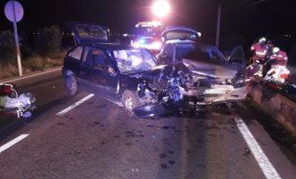 Quatre persones resulten ferides en l'accident a Montcada