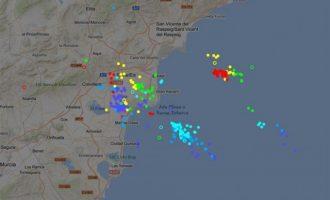 Les pluges torrencials descarreguen fins a 285 l/m2 a La Safor
