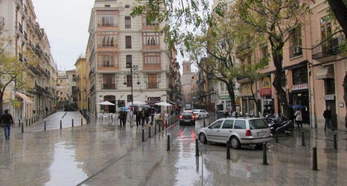 La davantera de la DANA provoca pluges generalitzades en la Comunitat Valenciana de febles a moderades