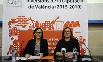 El Camp de Túria rep 34,9 milions d'euros d'inversions de la Diputació fins a 2018, un 46% més que a l'etapa anterior
