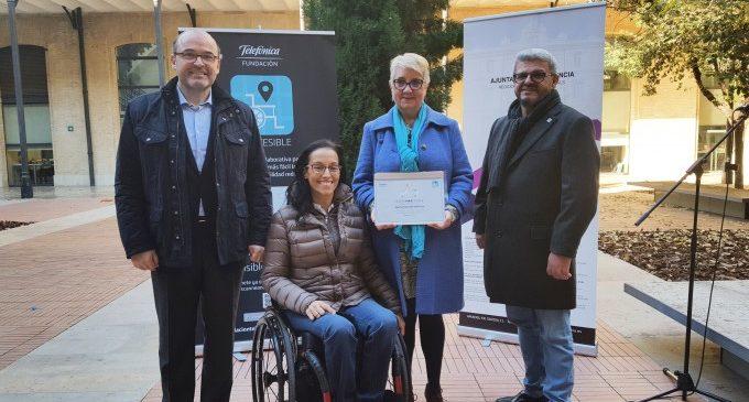València, primera ciutat a rebre el diploma 'Ciutat MAPCESIBLE'