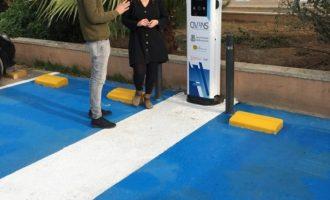 Burjassot ja compta amb un punt de recàrrega públic per a vehicles elèctrics gràcies a la subvenció d'IVACE