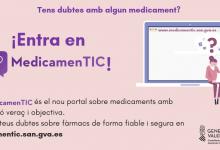 Sanitat llança 'MedicamenTIC', un portal d'informació sobre medicaments dirigit a la ciutadania