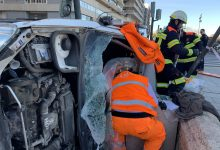 Greu accident en la Ciutadella amb xoc entre dos cotxes