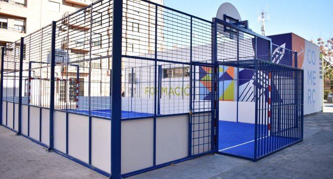 Oberta la pista multiesportiva de la Pl. Corts Valencianes d'Alfafar