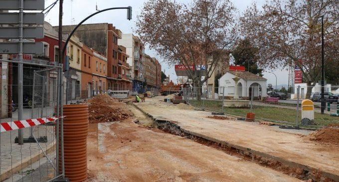 S'ultimen els treballs de demolició en Camí Reial i el carrer València de Torrent