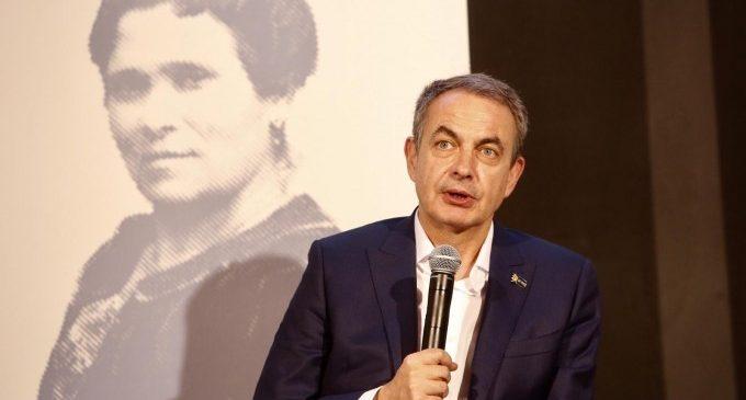 """Zapatero: """"Les dones pararan a l'extrema dreta"""""""