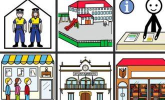 Manises instal·la pictogrames per a la inclusió de les persones amb dificultat de comunicació oral
