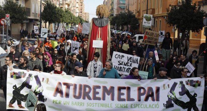 Al voltant de 3.000 persones criden «Aturem el PAI» i reivindiquen un barri sostenible i sense especulació a Benimaclet