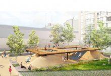 Arrancan las obras del nuevo jardín de la plaza Santa Maria Mazzarello en el barrio de Orriols
