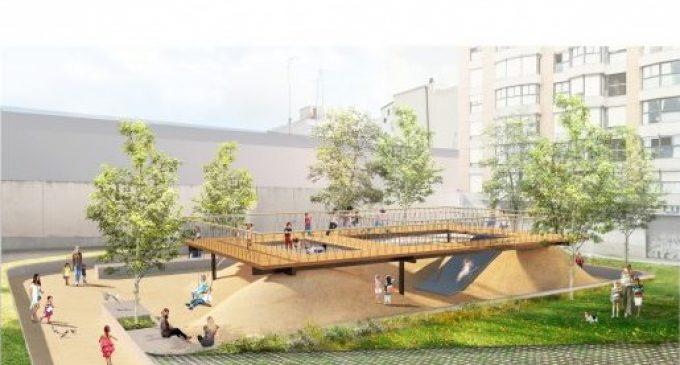 Arranquen les obres del nou jardí de la plaça Santa Maria Mazzarello al barri d'Orriols