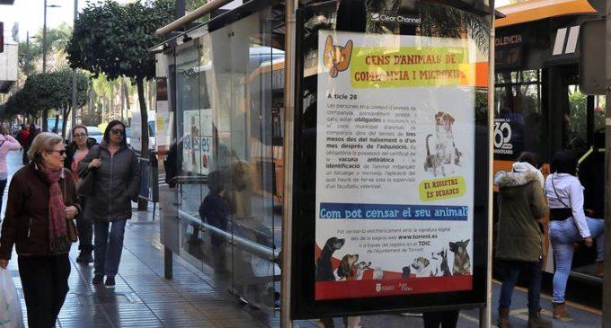 L'Ajuntament de Torrent impulsa el cens i el xipat de mascotes