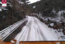 El temporal deixa neu en Pobla de Benifassà i ratxes de 111 km/h en Fredes