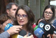 Oltra celebra que aquesta vegada sí que s'aprove la reforma de l'Estatut valencià: