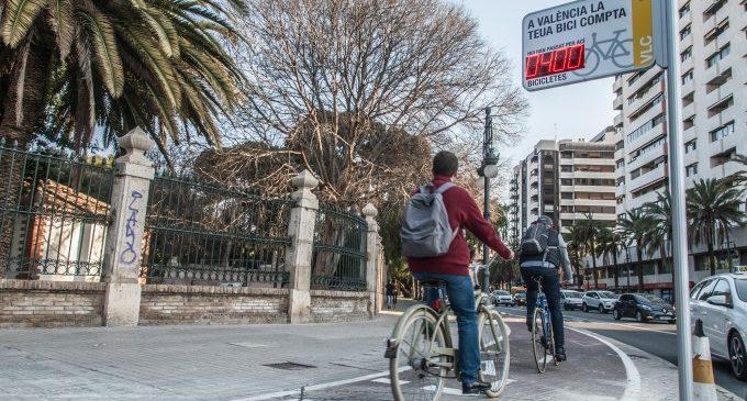 El nou comptador de Vivers comptabilitza 400 bicicletes en tan sols unes hores