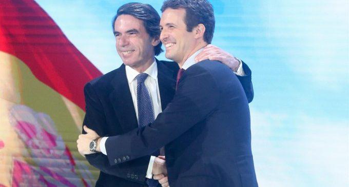 Aznar entra en campaña y participará este miércoles en un mitin en València con Isabel Bonig