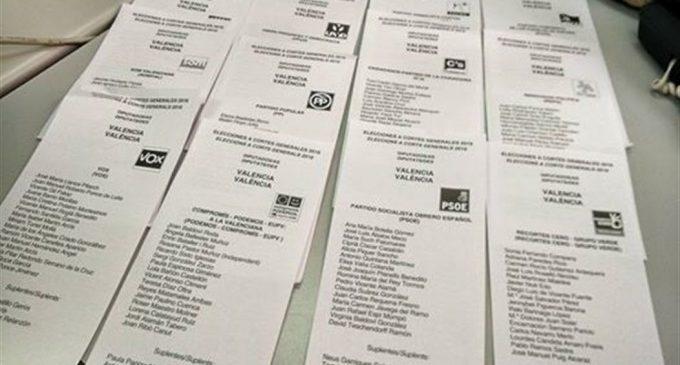 Horario para votar en las elecciones del 10N
