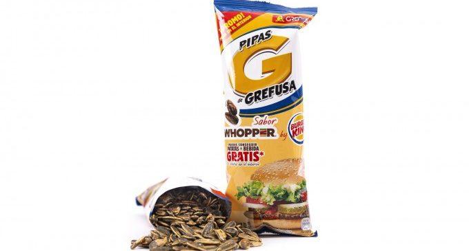 Burger King i Grefusa llancen unes pipes edició limitada amb sabor a Whopper