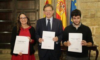 Puig, Oltra y Dalmau arrancarán este martes en Les Corts las negociaciones formales para el nuevo Botànic
