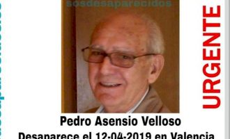 Es busca a un ancià octogenari desaparegut a València