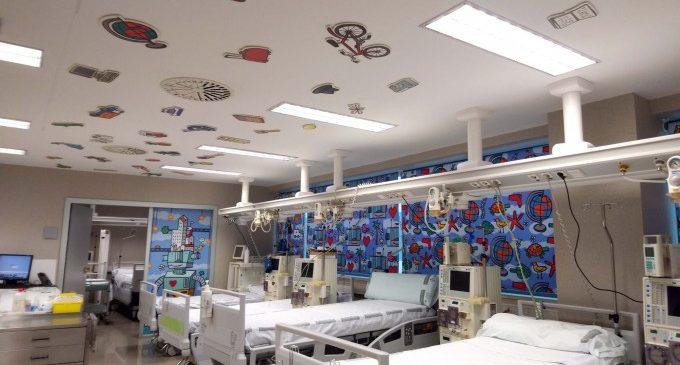 La Fundación Pequeño Deseo decora tres salas del Servicio de Nefrología Infantil del Hospital La Fe
