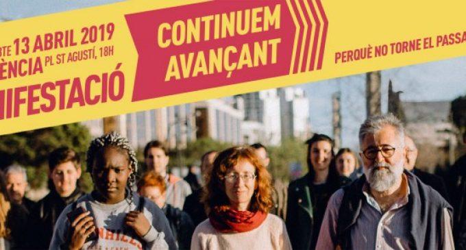 """""""Continuem avançant"""": La manifestació per la llengua recorrerà València aquesta vesprada"""