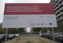 El carrer d'Alacant, tallat un mes al trànsit a partir de dilluns per les obres de la línia 10 de metro