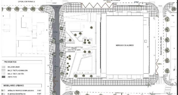 Comencen les obres de reurbanització de l'entorn del Mercat d'Algirós