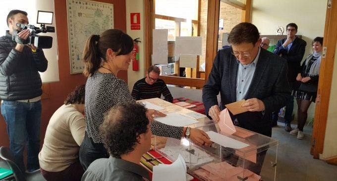 """Ximo Puig: """"Aquest és un dia especial important per a la Comunitat Valenciana, ens juguem el nostre futur"""""""