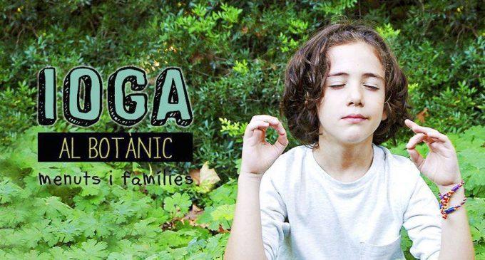 Els més menuts poden gaudir del ioga enmig de la natura en el Jardí Botànic