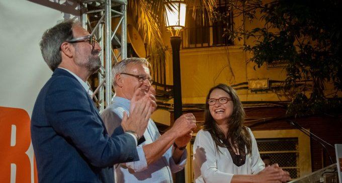 """Ribó arranca campanya amb tot el comboi dels veïns al crit de """"Jo amb Ribó"""""""