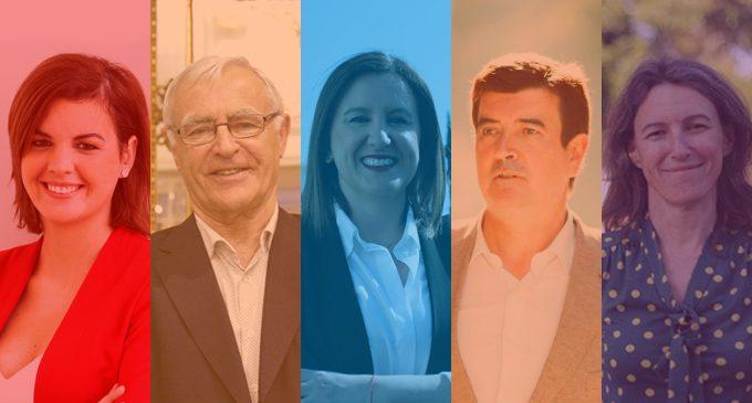 El mar i Russafa testimonis de l'inici de la campanya electoral per al 26-M