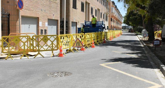 Alfafar inicia la millora de les instal·lacions d'aigua potable al carrer Veleta