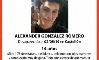 Busquen un xic de 14 anys desaparegut a Castelló que necessita medicació