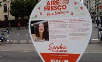 El PSPV ordena retirar els rètols electorals de Gómez que va denunciar un assessor del PP
