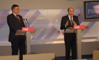 """Puig recuerda a Rubalcaba como """"un aliado en tiempos difíciles"""" y pide al PSPV la suspensión de todos los actos"""