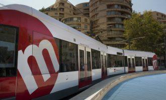 El paso de los tranvías en tiempo real con la app de Metrovalencia