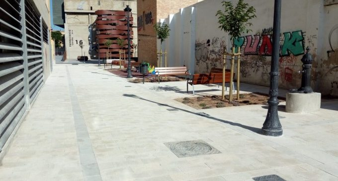 Acaben els treballs de d'obertura del carrer Hort d'en Cendra, junt a l'IVAM