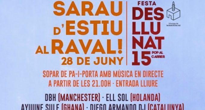 El Teatre del Raval acomiada la temporada amb un sopar d'estiu a la fresca amb música en directe