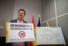 "Grezzi anuncia que ""el 64% de las calles de València serán de 30Km/h"""