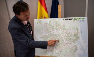 Tots els barris de València tindran una majoria de carrers limitats a 30 km/h