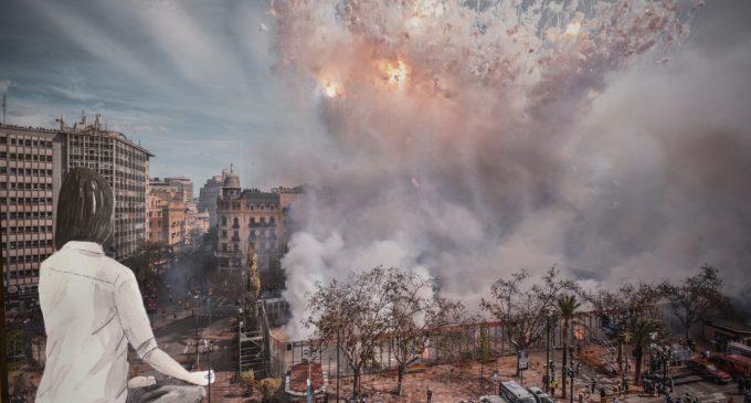 """L'esbós de la Falla Municipal 2020 mostra un monument """"que gira amb el Planeta Terra"""""""