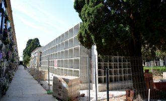 Paiporta invierte 90.000 euros en la ampliación de 258 nichos en el Cementerio Nuevo