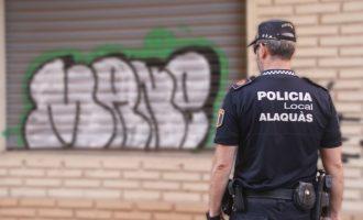 La Policía Local de Alaquàs identifica al presunto autor de más de una veintena de pintadas a la vía pública