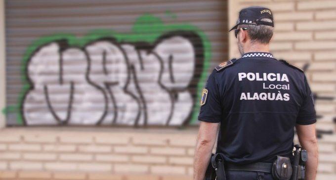 La Policia Local d'Alaquàs identifica al presumpte autor de més d'una vintena de pintades a la via pública