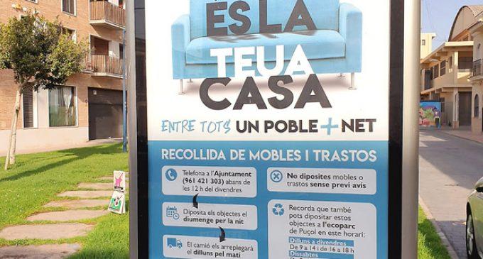 Puçol inicia una campanya amb l'objectiu de mantindre net el municipi