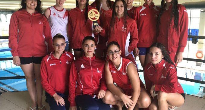 Les medalles de Llora i Clemente porten al Atlantis Sincro Burjassot a aconseguir el trofeu al millor club en el Campionat d'Espanya Infantil