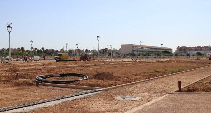 Més zones verdes a Albal amb la urbanització del parc Benamá que acabarà al juliol