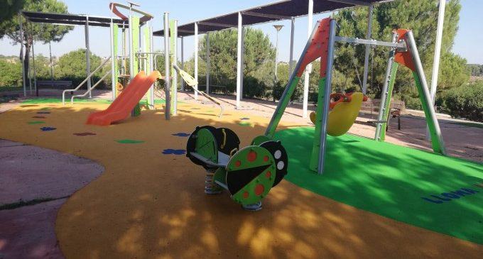 Els parcs infantils del Plantío, Auditori i Lloma Llarga de Paterna estrenen reforma
