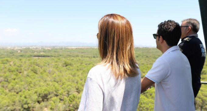 Sagredo visita La Vallesa per a veure l'avanç en les tasques de prevenció forestal